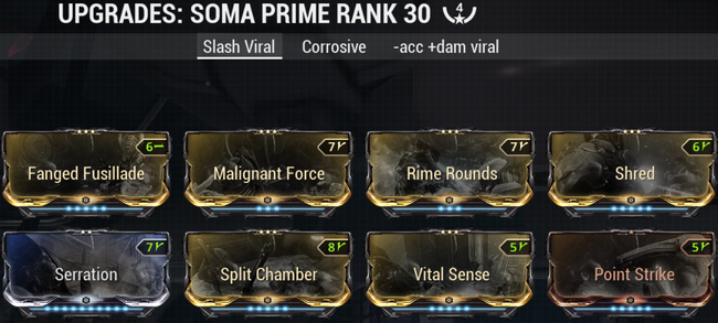 Warframe screenshot build soma-prime slash-viral.png