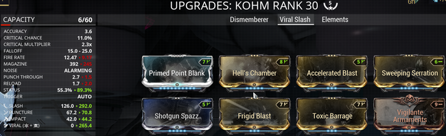Warframe screenshot build kohm viral slash.png